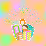 International children`s day card Royalty Free Stock Images