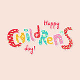 International children`s day card Stock Photo