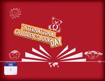 International childrens book day. Calendar holiday of April - international children`s book day Stock Photo