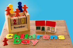 International Childrens Day on November 20th Royalty Free Stock Photography
