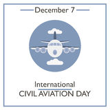International Civil Aviation Day. December 7. Vector illustration for you design, card, banner, poster and calendar Royalty Free Stock Photos