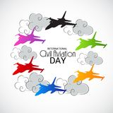 International Civil Aviation Day. Vector Illustration of a Background for International Civil Aviation Day Stock Photo