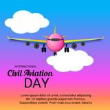 International Civil Aviation Day. Vector Illustration of a Background for International Civil Aviation Day Royalty Free Stock Photography