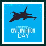 International Civil Aviation Day. Vector Illustration of a Background for International Civil Aviation Day Royalty Free Stock Photo