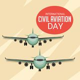International Civil Aviation Day. Vector Illustration of a Background for International Civil Aviation Day Stock Photos