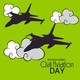 International Civil Aviation Day. Vector Illustration of a Background for International Civil Aviation Day Royalty Free Stock Images