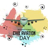 International Civil Aviation Day. Vector Illustration of a Background for International Civil Aviation Day Stock Images
