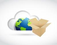 International cloud computing storage concept Stock Image