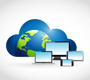 International cloud computing technology concept Royalty Free Stock Image