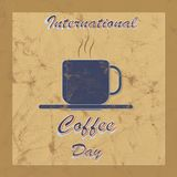 International Coffee day worn texture Royalty Free Stock Photos