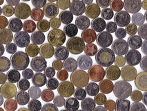 International Coins. Modern International Coins collection background stock photography