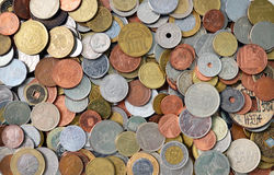 International coins texture Royalty Free Stock Photography