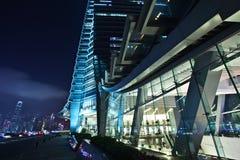 International Commerce Center Kowloon Hong Kong. The International Commerce Center ICC Building Kowloon Hong Kong Harbor at Night Royalty Free Stock Images