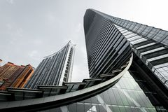 International Commerce Center office building in Hong Kong Stock Image