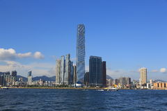 International Commerce Centre in Hong Kong Royalty Free Stock Photography