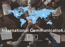 International Communication Connection Networking Website Concep Stock Image