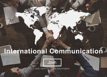 International Communication Connection Networking Website Concept royalty free stock image