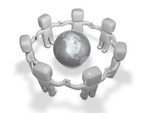 International communication and working together Royalty Free Stock Images
