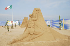 International Competition of sculptures of sand Stock Photos