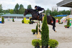 International competitions in show jumping CSI3 Vivat Stock Photography