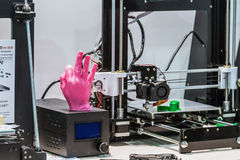 International Conference and Exhibition of 3D printing and scann Royalty Free Stock Images