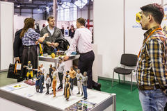 International Conference and Exhibition of 3D printing  scann Royalty Free Stock Photo