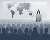 International congress. Congress of an international company stock illustration