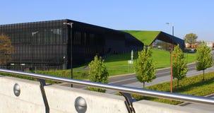 International Congress Center complex in Katowice, Poland stock video footage