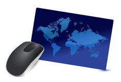 International connection Wireless computer mouse stock illustration