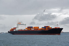 International Container Cargo ship in sea Stock Image