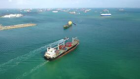 International Containers Cargos ship,Freight Transportation, Shipping,Trade Port,Shipping cargo to harbor,
