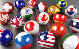 International country flags Stock Photo