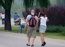 International Couples. The international couples on the way Stock Photography
