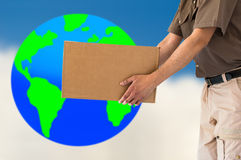 International courier corporate Royalty Free Stock Image