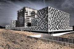 International Criminal Court in dramatic colors Royalty Free Stock Photos