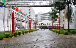 The International Criminal Tribunal for Rwanda. ARUSHA, TANZANIA -The International Criminal Tribunal for Rwanda is located at the Arusha International royalty free stock photography