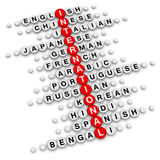 International crossword Royalty Free Stock Images