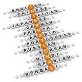 International crossword Royalty Free Stock Photos