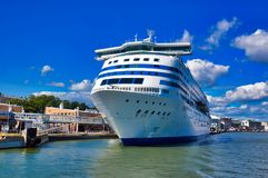 International cruise ferry in the port of Helsinki Royalty Free Stock Images