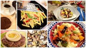 International cuisine montage stock video footage