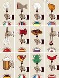 International cuisine Stock Photos