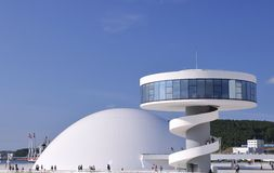 International Cultural Centre Oscar Niemeyer. Royalty Free Stock Image