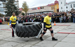 International Cup Galicia with strongman_27 Stock Photography