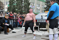 International Cup Galicia with strongman_31 Royalty Free Stock Images