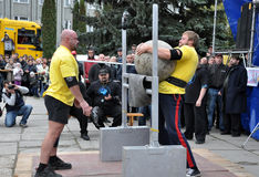 International Cup Galicia with strongman_34 Royalty Free Stock Images