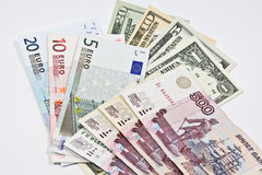 International currencies Royalty Free Stock Images