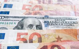 Free International Currencies Background. Money From Different Countries: Dollars, Euros. Euro And Dollar Banknotes. Money Background. Royalty Free Stock Photos - 169024078
