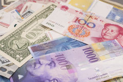 International currencies  banknote Stock Images