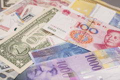 International currencies Stock Photos