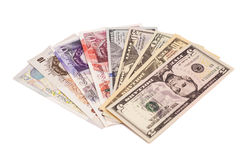 International currencies  banknote Royalty Free Stock Photography